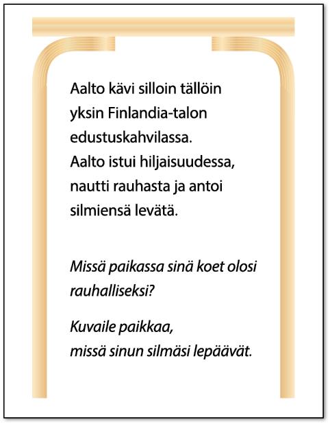 Alvar Aalto -keskustelukortti.