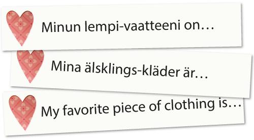 Lempikysymykset kolmella kielellä