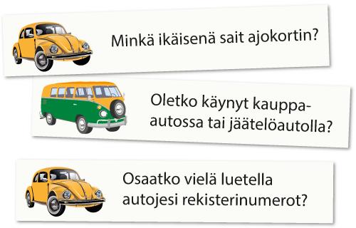 Autoilukysymykset-esimerkkejä: Minkä ikäisenä sait ajokortin?