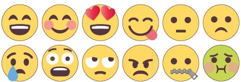 Emoji-kokoelma.
