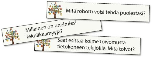 Tekniikkakysymykset: Mitä robotti voi tehdä puolestasi?