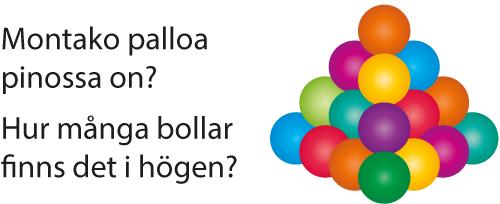 Päättelypähkinät: Montako palloa pinossa on?