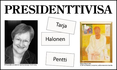 Presidenttivisa - Tarja Halosen valokuva ja muotokuva