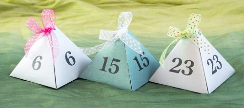 Joulukalenterirasiat, pyramidimalli